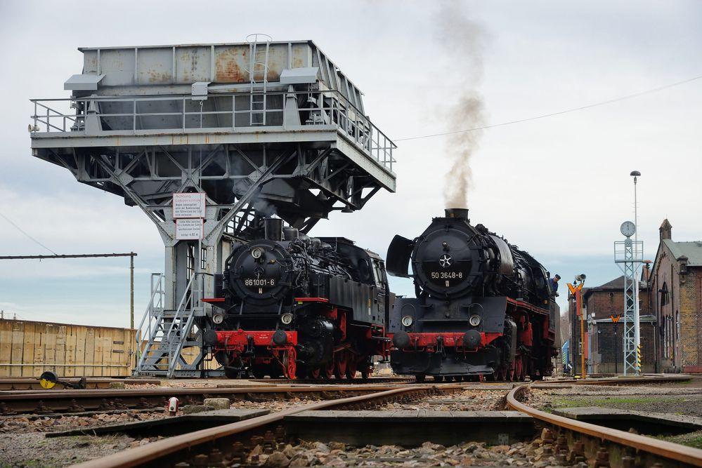 Im Sächsischen Eisenbahnmuseum ...