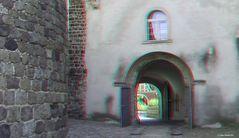 Im Schlosshof vom Schloss Wiesenburg in Wiesenburg/Mark