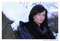 im Schnee mit Marijana aus Kroatien ^^