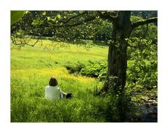 ...im Sommer- Grase sitzend... - ...mit allen Sinnen der Natur verbunden sein...