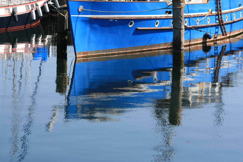 Im Spiegel des Hafenbeckens