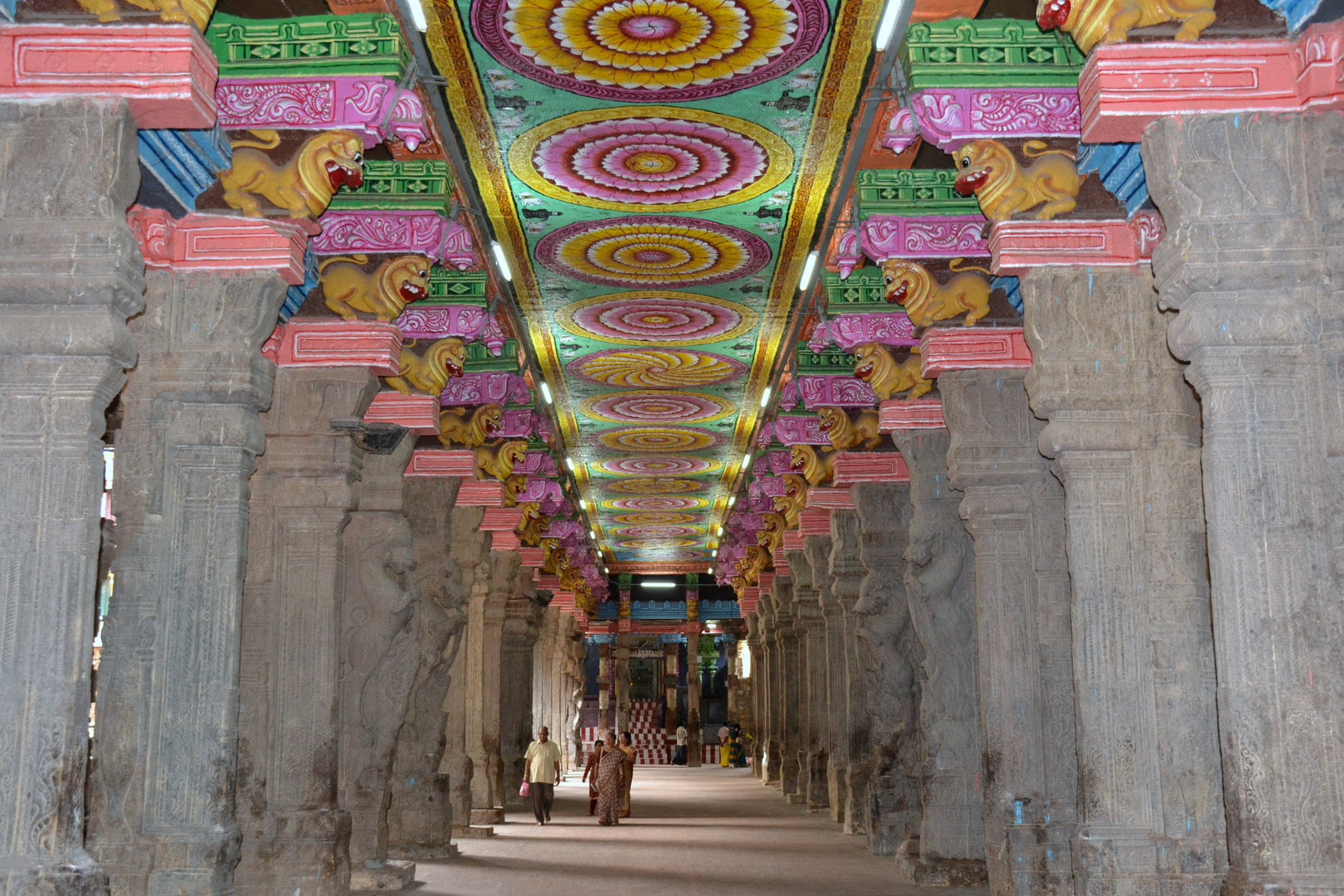 im Sri Meenakshi Tempel