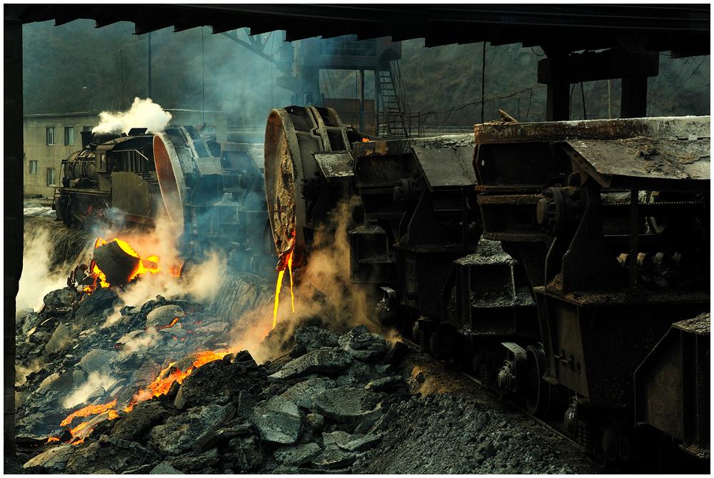 Im Stahlwerk VI - Schlackekippen III