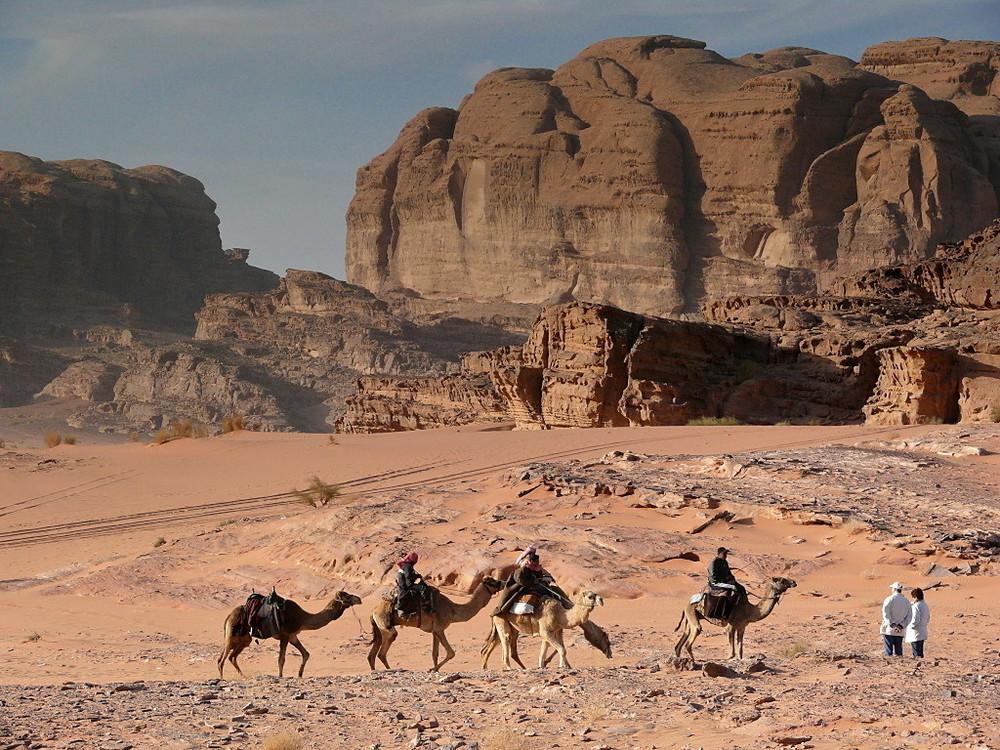 Im Wadi Rum unterwegs ...