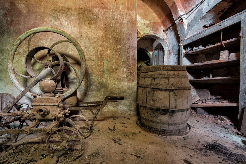 im Weinkeller...