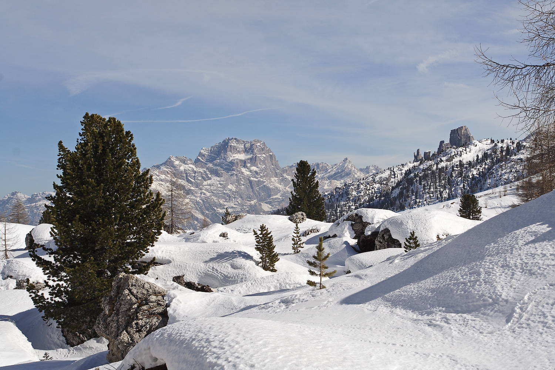 Im Winter am Falzarego-Pass