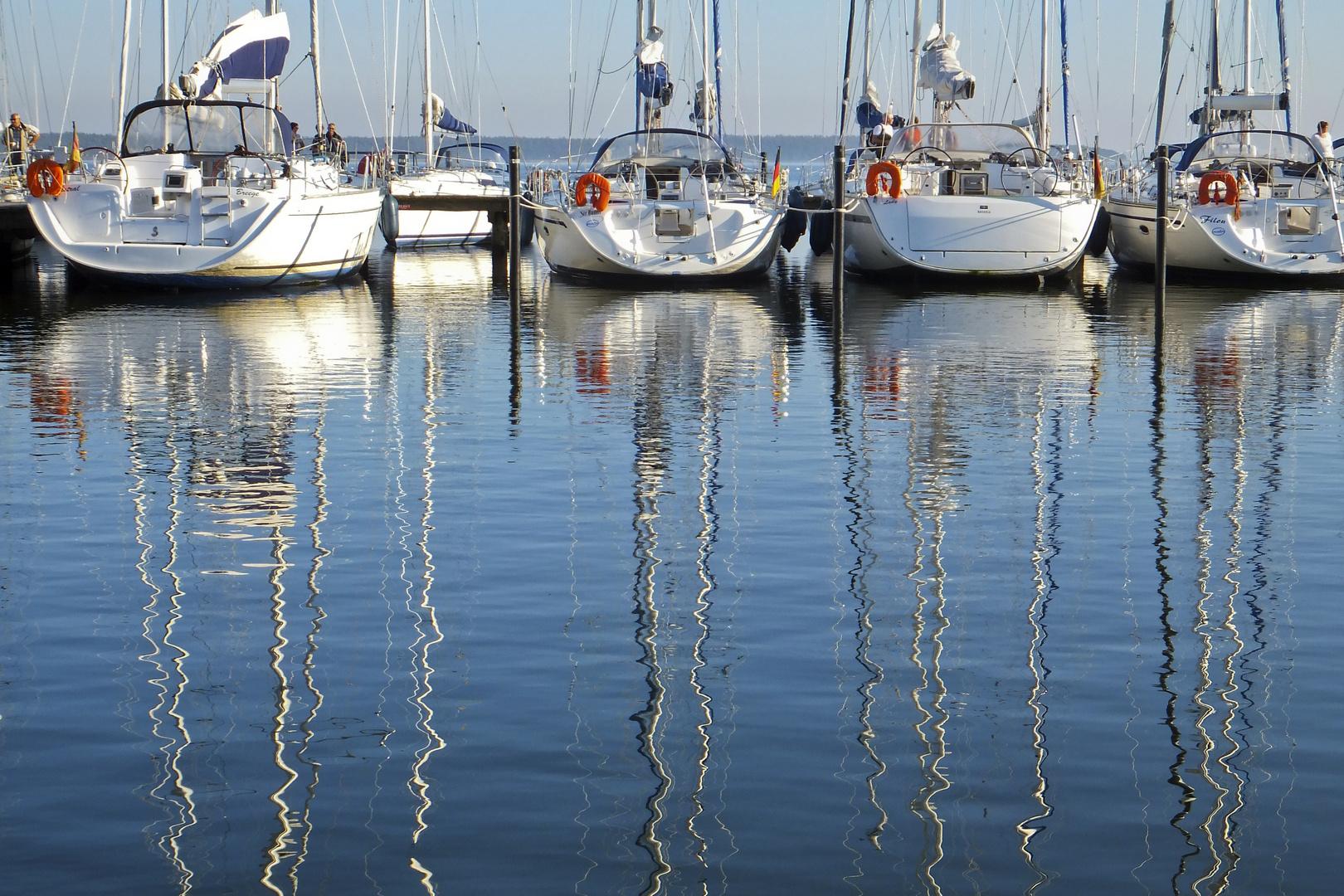 Im Yachthafen Breege