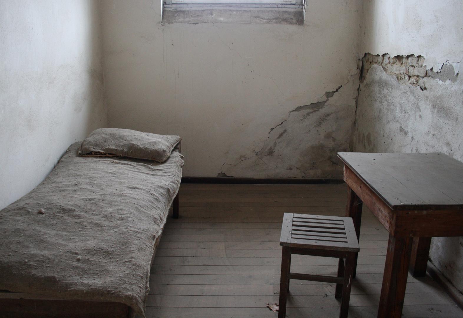 Im Zellenbau von Sachsenhausen