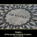 Imagine all the people living life in peace...