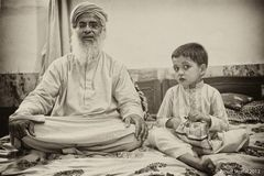 Imam Abdul Aziz Ghazi mit Adoptivsohn