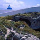 IMEROVÌGLÌ auf Santorin am Kraterrand gelegen .Im MAI