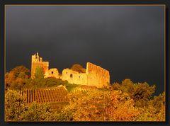 Immer wieder ein Bild wert: die Staufener Burg