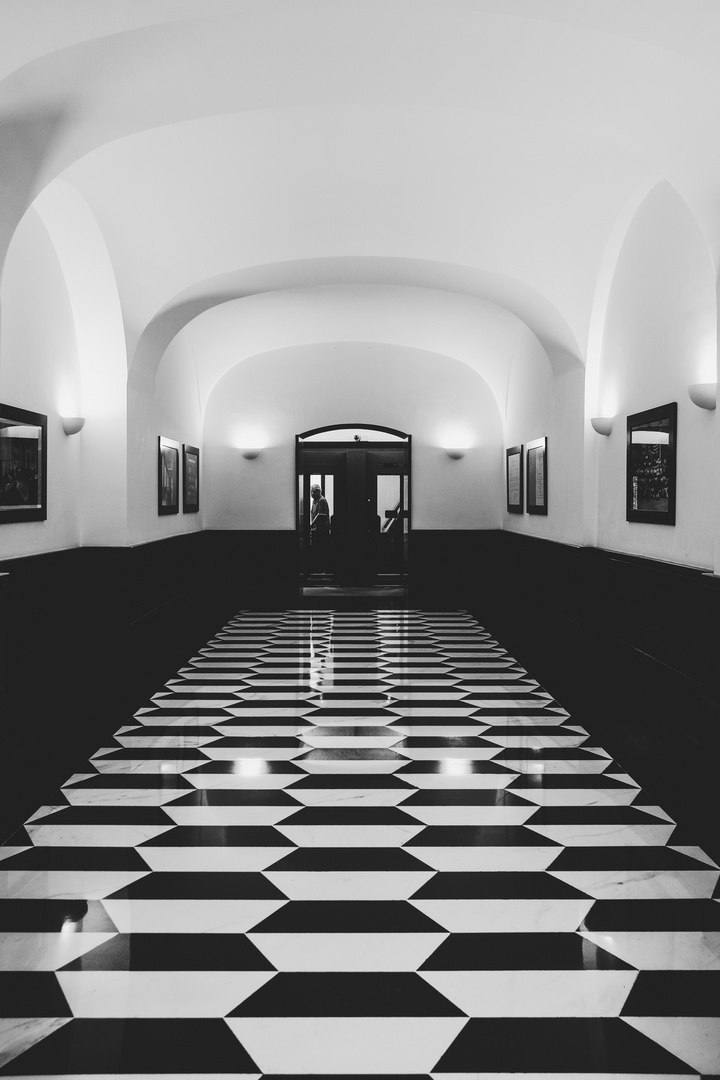 Imperia. Entrance of a bank.