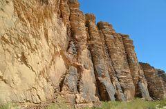 Imposante Felsformation im Wadi Rum