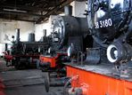 Impressionen aus dem Lokschuppen im Bay. Eisenbahnmuseum