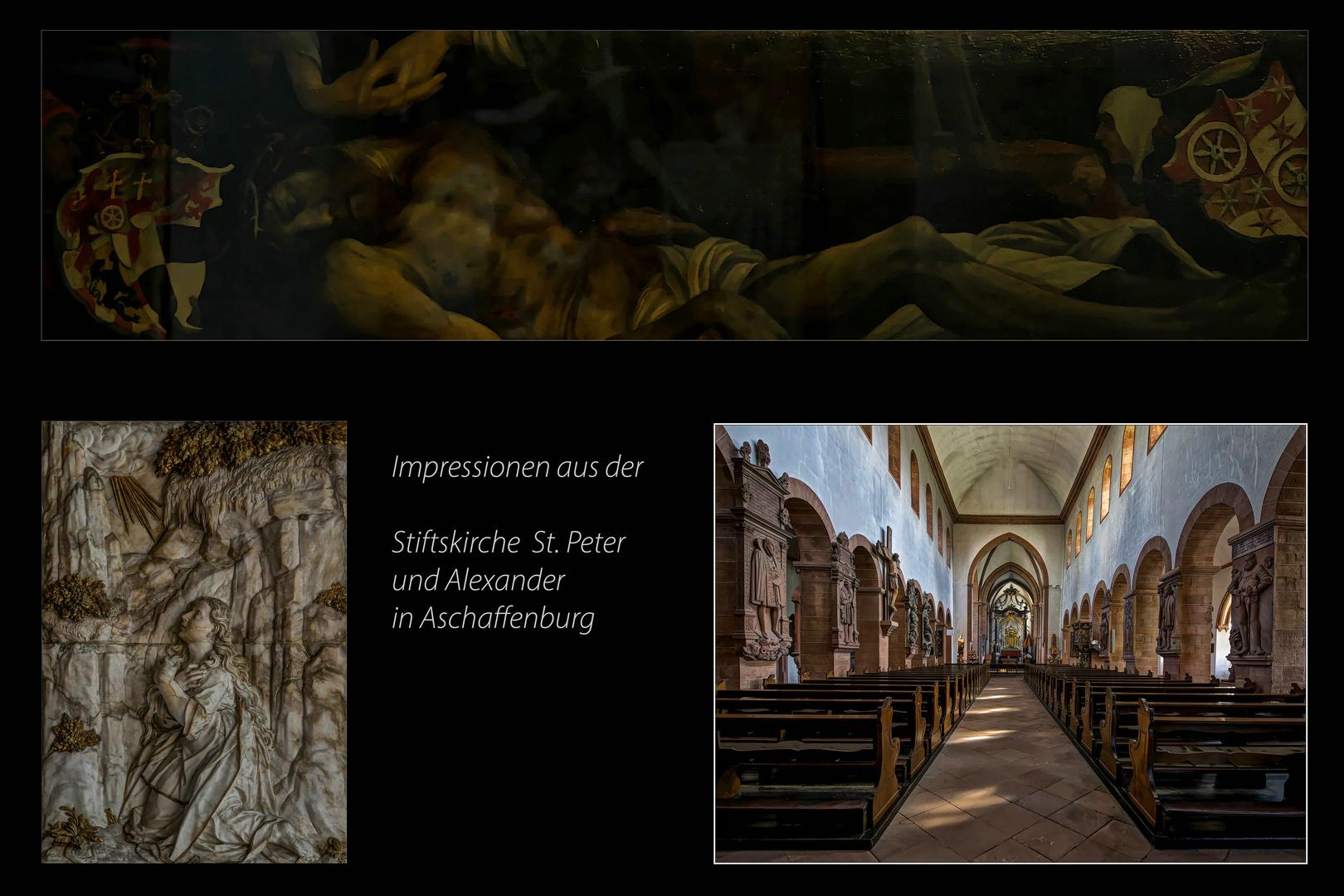 *** Impressionen aus der Stiftskirche St. Peter u Alexander in Aschaffenburg ***