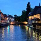 Impressionen aus Straßburg - Blauen Stunde am Quai Saint Nicolas