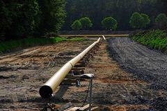 Impressionen von der Baustelle einer Gaspipeline