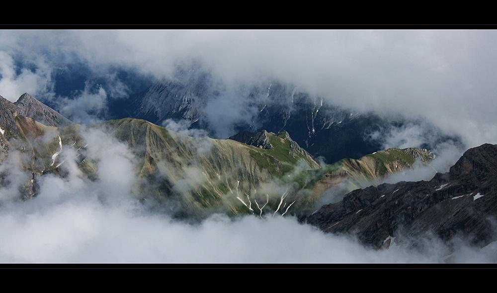 in 2962 meter auf der Zugspitze