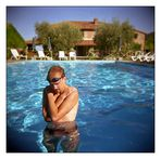 In a Cold Cold Pool (Holga Version)