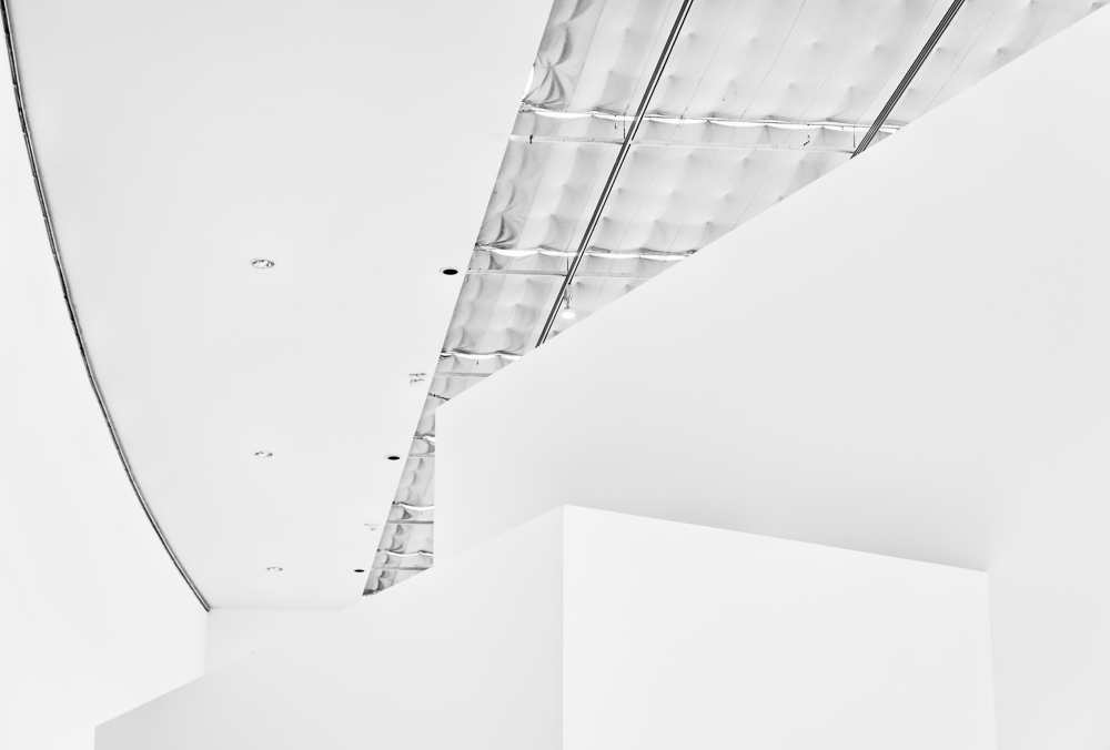 in a white room; the white cube