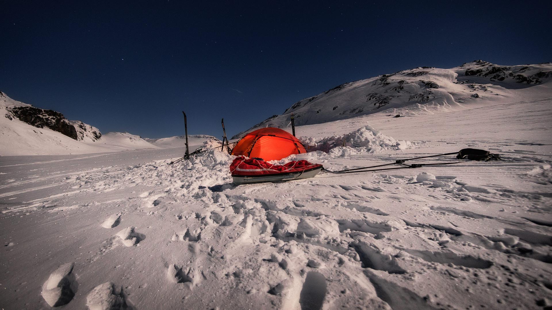 in arktischer Winternacht