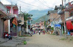 In Arughat, dem Startpunkt für die Manaslu-Umrundung