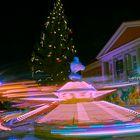 In Bewegung auf dem Weihnachtsmarkt