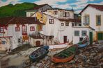 In Cadaqués (Spanien) gesehen und gemalt (uno de mis cuadros)