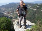In cima a Rocca Corno 315 Mt