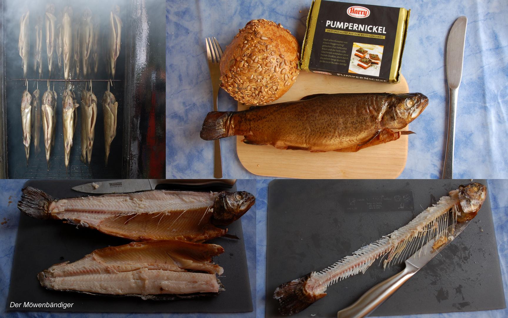 In Dänemark geboren,gross gezogen In Portugal,geräuchert in der Probstei,gegessen von mir