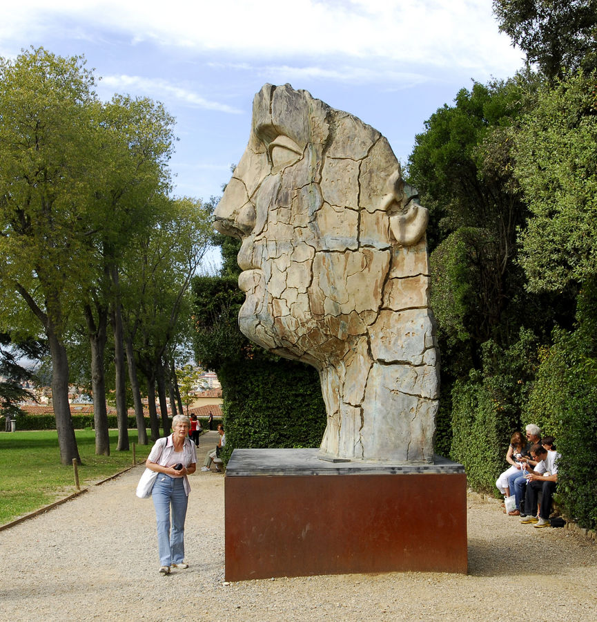 In den Boboli-Gärten in Florenz
