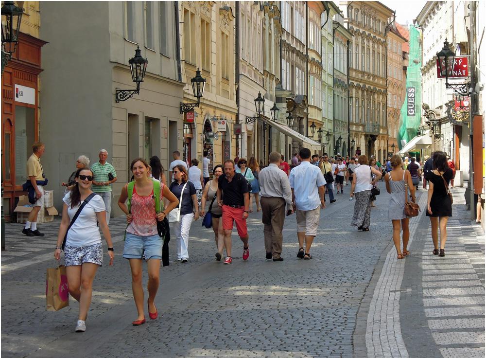 In den Gassen von Prag