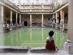 In den römischen Thermen von Bath - pittoreske Variante