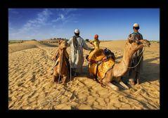 In den Sanddünen von Sam