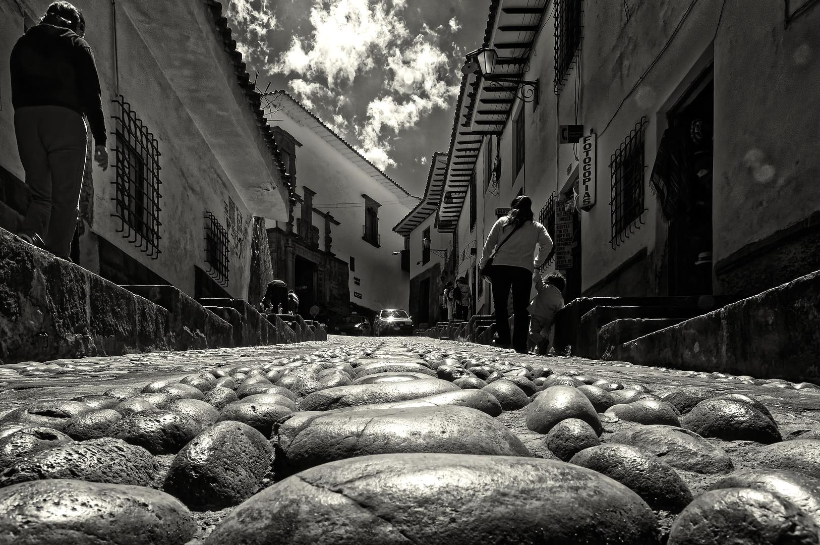 ... in den Straßen von Cusco ...
