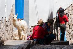 In den Straßen von Cuzco