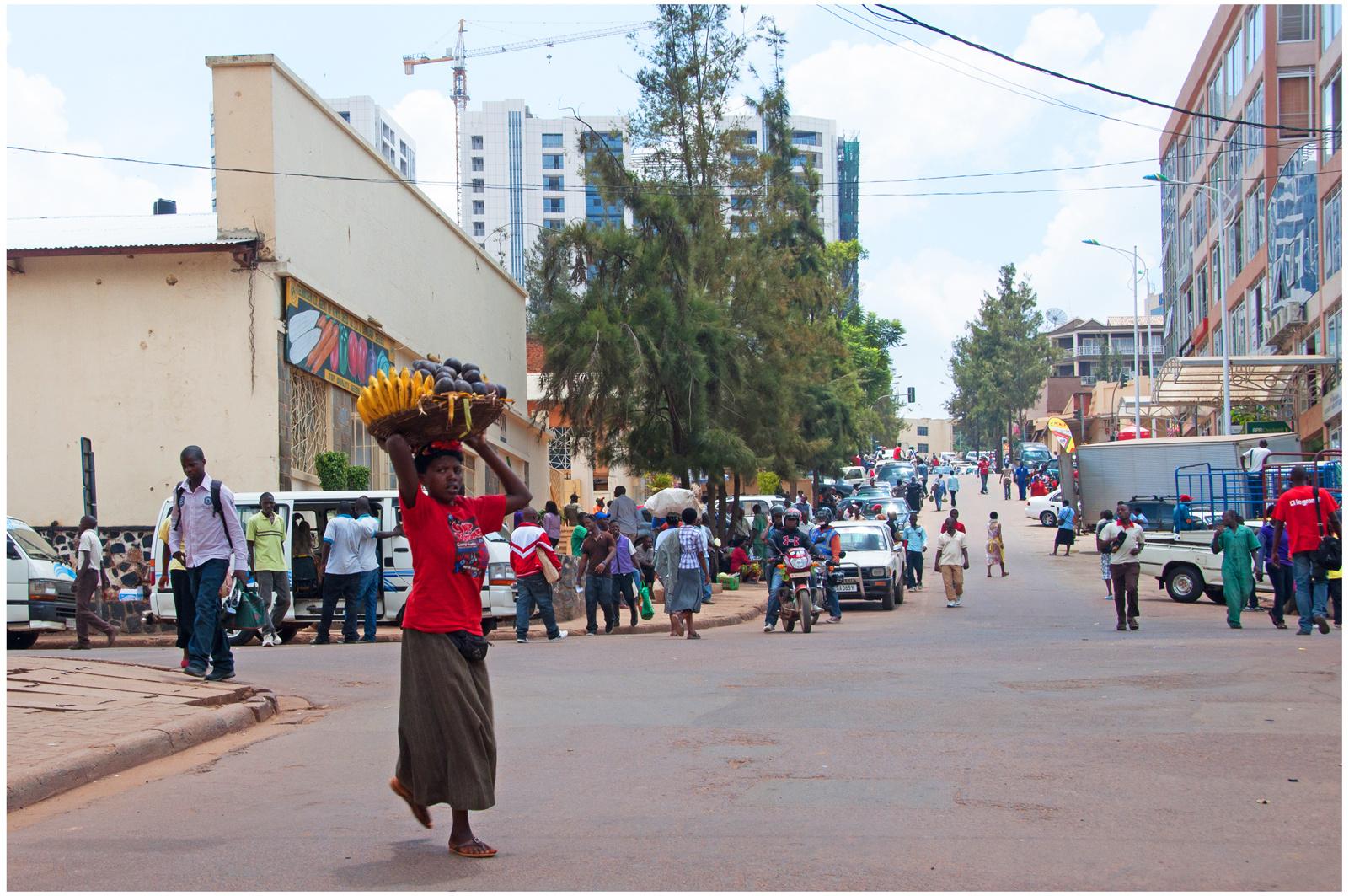 In den Straßen von Kigali