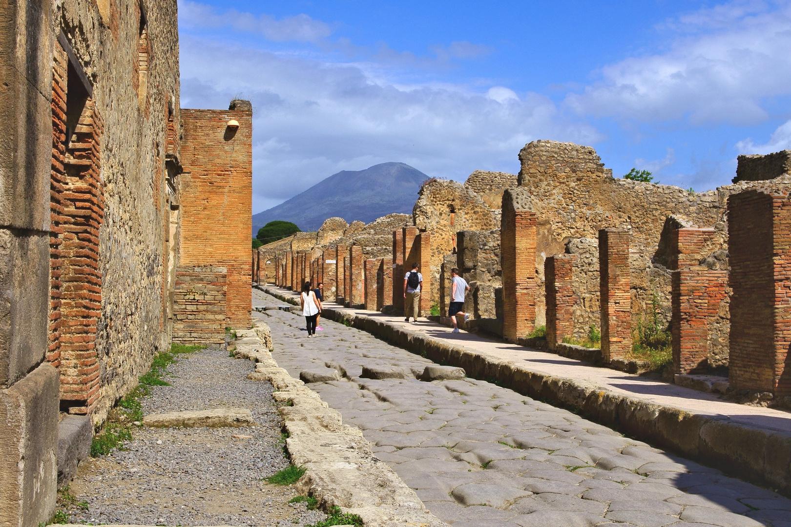 In den Straßen von Pompeji (bei Neapel) 3-3.