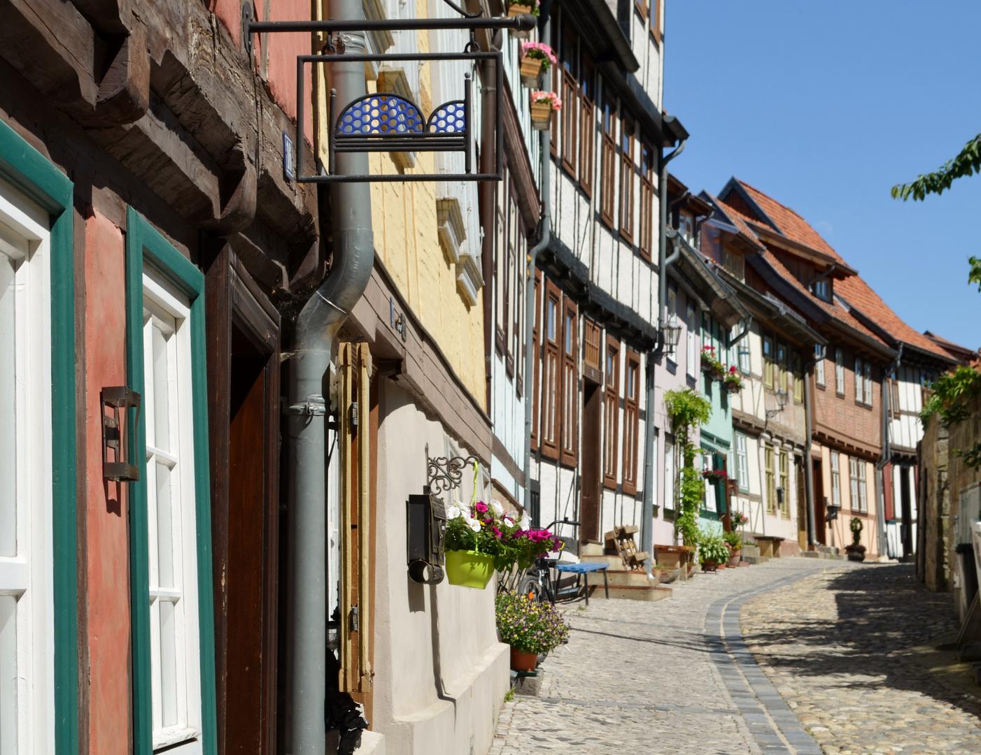 In den Straßen von Quedlinburg