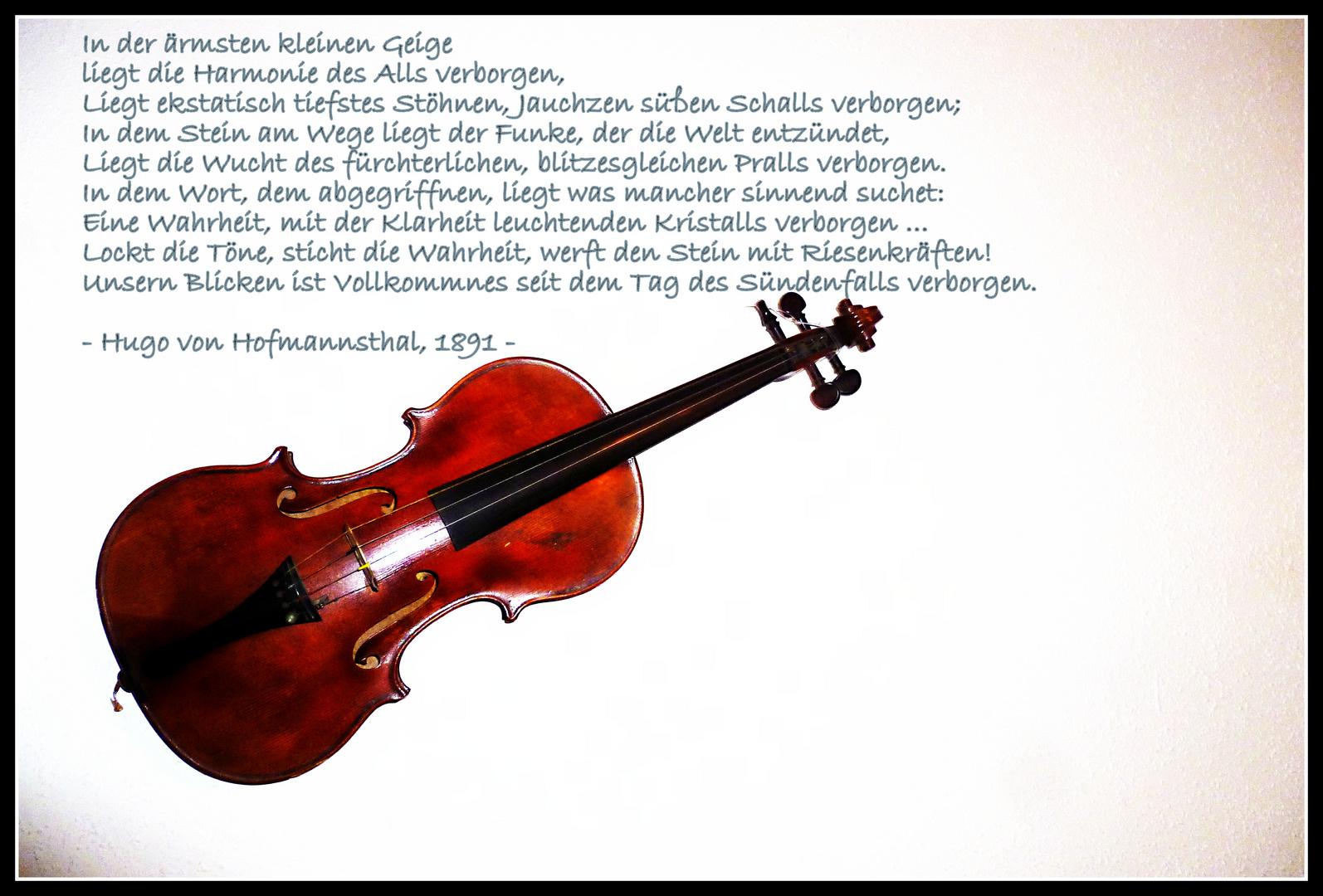 In der ärmsten kleinen Geige - Hofmannsthal
