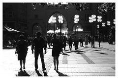In der Fußgängerzone Münchens
