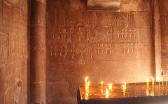 In der Grabkammer des Klosters Norawank