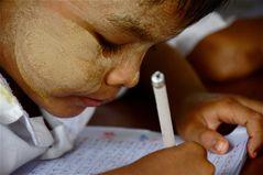 in der grundschule No.: 1, dorf bei bagan, burma 2011 :-)))) II