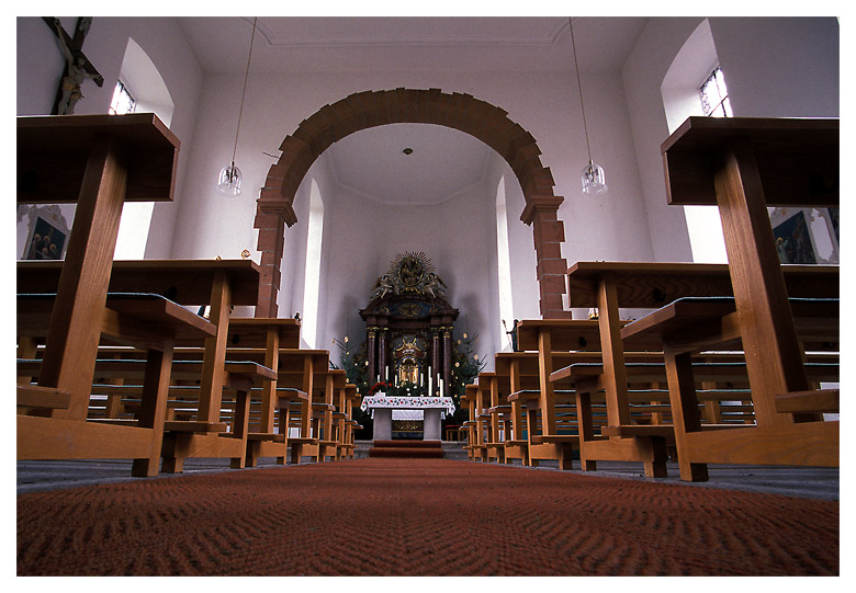 In der Kapelle ....