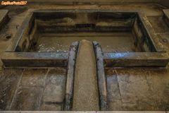 In der Küche des Mosteiro de Alcobaca eine Levada des künstlichen Nebenarms des Flusses Alcoa