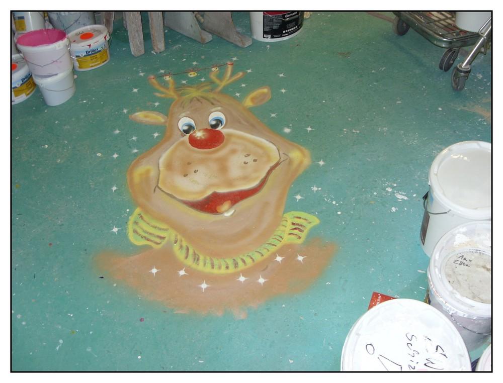 In der Malerei zur Weihnachtszeit.