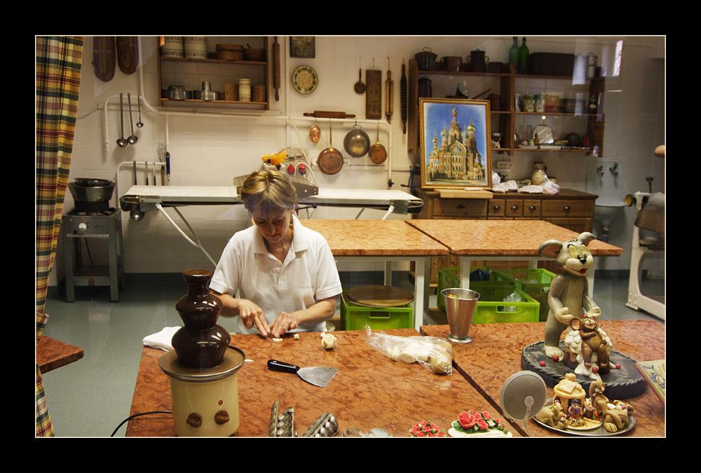 In der Marzipan - Werkstatt