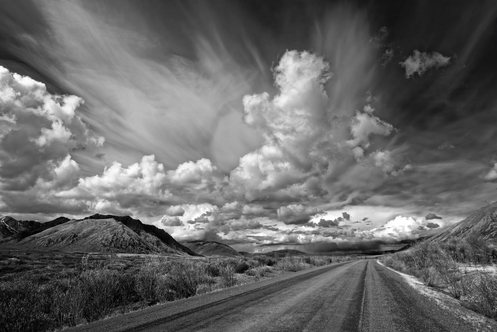 In der Mitte von Yukon Territory