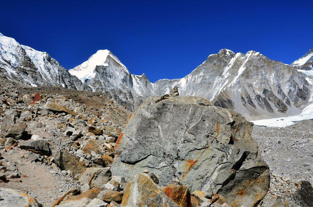 In der Nähe des Everest Base Camps (5360 m)